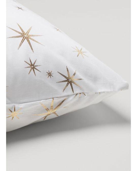 H&M HOME Sparkle Pillow Case 50x60 White