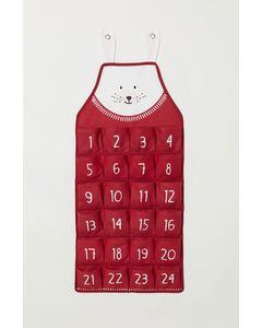 Christmas Xmas Calendar Nosize Red
