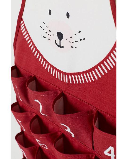 H&M HOME Christmas Xmas Calendar Nosize Red