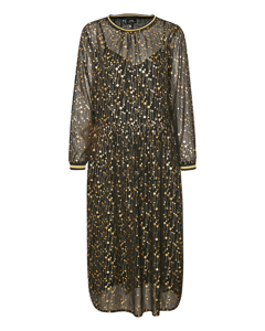 Hanami Long Dress Meteorite Black