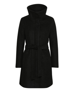 Seola Zip Coat Black