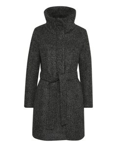 Seola Zip Coat Dark Grey Melange