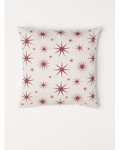 Thin Stars Cushion Cover 50x50 Xmas Beige