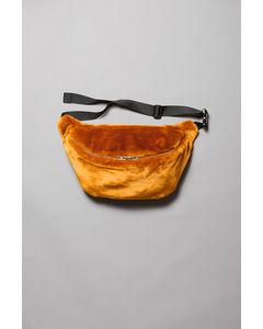 Park Faux Fur Shoulder Bag Yellow