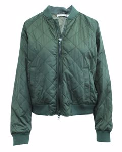 Datk Green Quilted Puffer Jacket