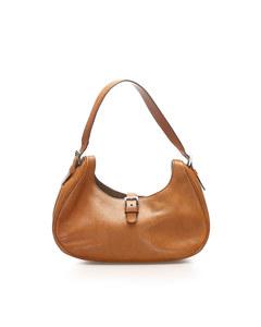 Prada Leather Shoulder Bag Orange