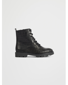 Biacalder Chunky Laced Up Boot Black