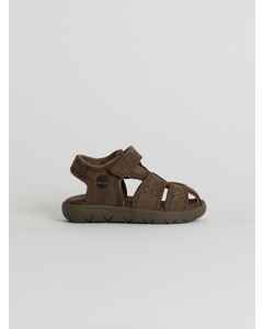Nubble Leather Fisherman Sandal Brown