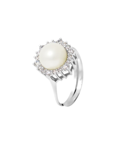 Be Loved - Pearl Ring Silver Cultured Pearl - Woman