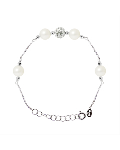 Be Loved - Pearl Silver Culture Bracelet - Woman