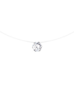 Be Loved - Silver Solitaire Necklace - Woman