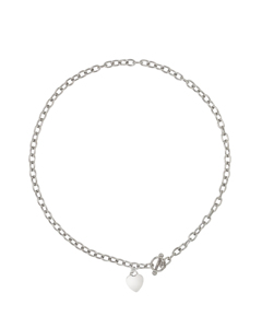 Be Loved - Silver Heart Necklace - Woman