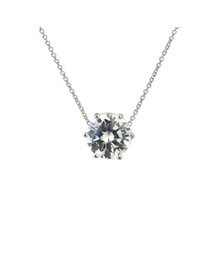 Silver Solitaire-halsband Tag-clementina