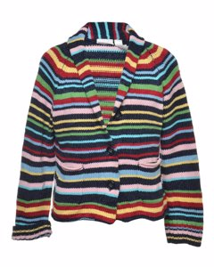 2000s Liz Claiborne Striped Cardigan