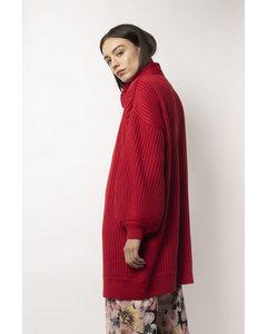 Priya Cardigan Red