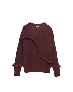 Sonja Frill Sweater Deep Purple