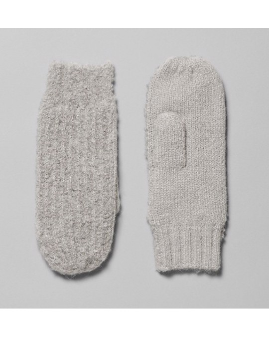 Weekday Shea Knitted Mittens Grey