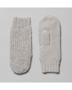 Shea Knitted Mittens Grey