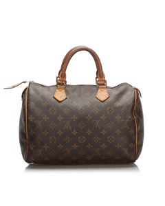 Louis Vuitton Monogram Speedy 30 Brown