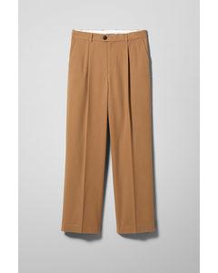Conrad Wide Trousers Beige