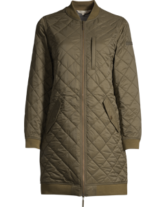 Liv Quilted Long Jacket Hunter Green