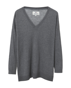 Ana Cotton Bamboo Sweater Heather Gray Melange