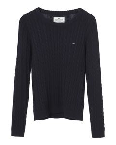 Felizia Cable Sweater Deep Marine Blue