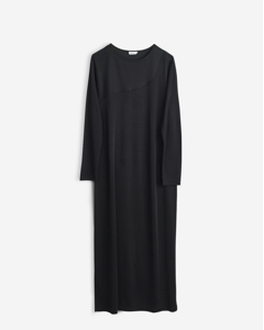 Drape Jersey Dress Black