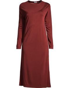 Drape Jersey Dress Warm Red