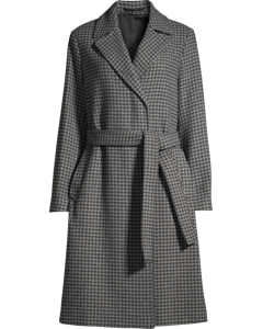 Victoire Dogtooth Coat Dk Grey