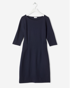 Fitted Jersey Dress Navy