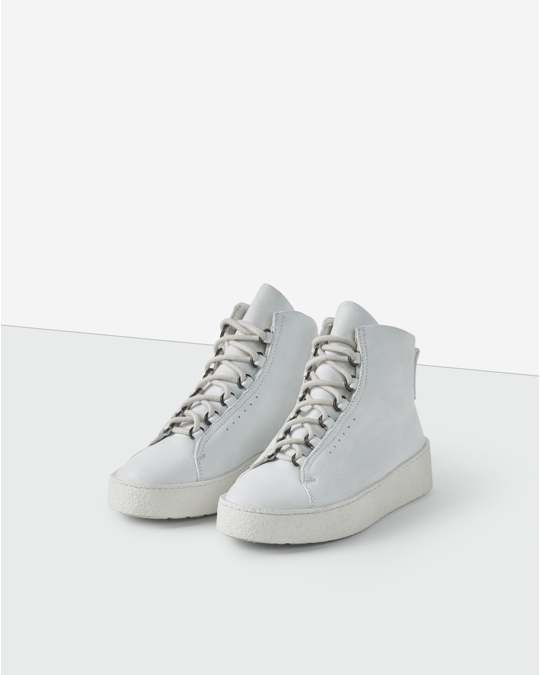 Filippa K Anna Winter Laced Boot White Nubuck