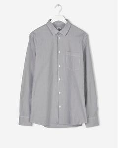 Tim Thin Block Stripe Shirt Blue/white