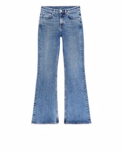 Flared Stretch Jeans Blue