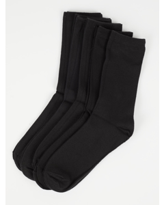 Normal Shaft Socks Black