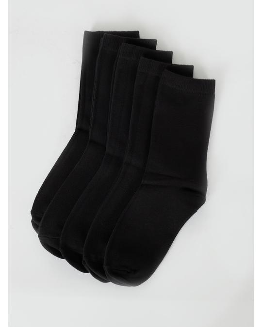 AFOUND OBJECTS Normal Shaft Socks Kids Black