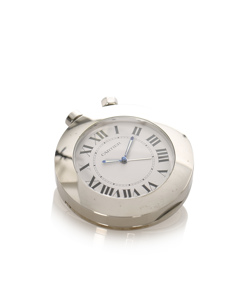 Cartier Pasha Travel Clock Silver