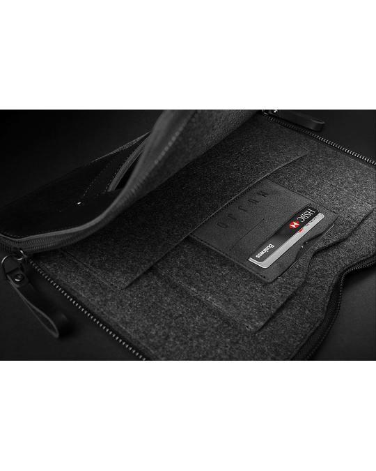 Mujjo Carry-on Folio Sleeve For 12-inch Macbook - Black