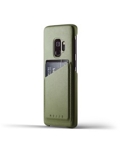 Full Leather Wallet Case For Galaxy S9 - Olive