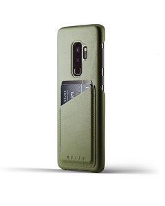 Full Leather Wallet Case For Galaxy S9 Plus - Olive