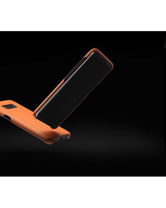 Mujjo Leather Case For Galaxy S8+ Saddle Tan