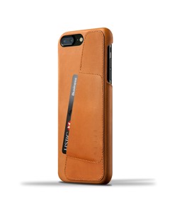 Leather Wallet Case For Iphone 8 Plus / 7 Plus - Tan
