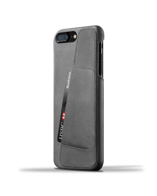 Mujjo Leather Wallet Case For Iphone 8 Plus / 7 Plus - Gray