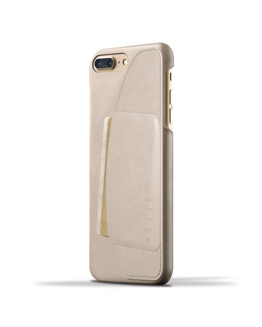 Mujjo Leather Wallet Case For Iphone 8 Plus / 7 Plus - Champagne