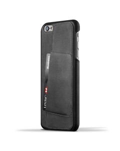 Leather Wallet Case 80° For Iphone 6(s) Plus - Black