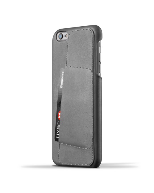 Mujjo Leather Wallet Case 80° For Iphone 6(s) Plus - Gray