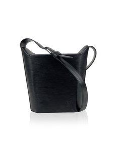 Louis Vuitton Vintage Black Epi Leather Sac Seau Bucket Shoulder Bag