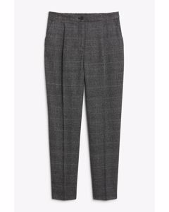 Tarja Trousers Check Grey