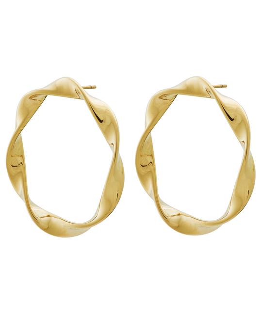 Edblad Swirl Studs Large Gold
