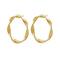 Swirl Ohrringe Large Gold